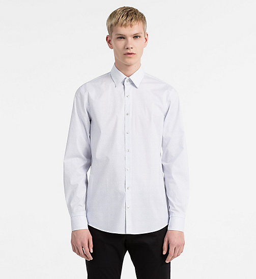 CALVINKLEIN Slim Dress Shirt - LIGHT BLUE - CALVIN KLEIN CLOTHES - main image