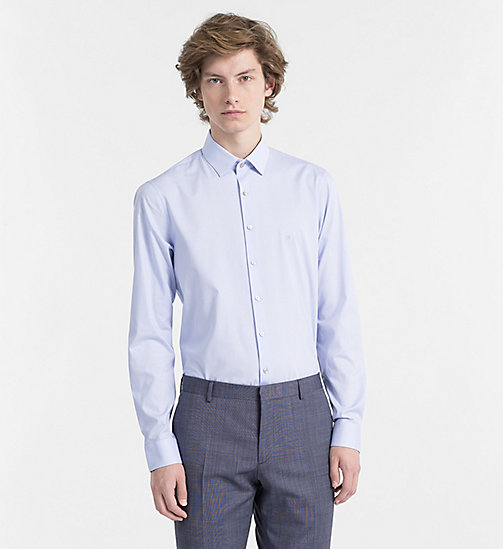 CALVINKLEIN Slim Dress Shirt - BLUE - CALVIN KLEIN CLOTHES - main image