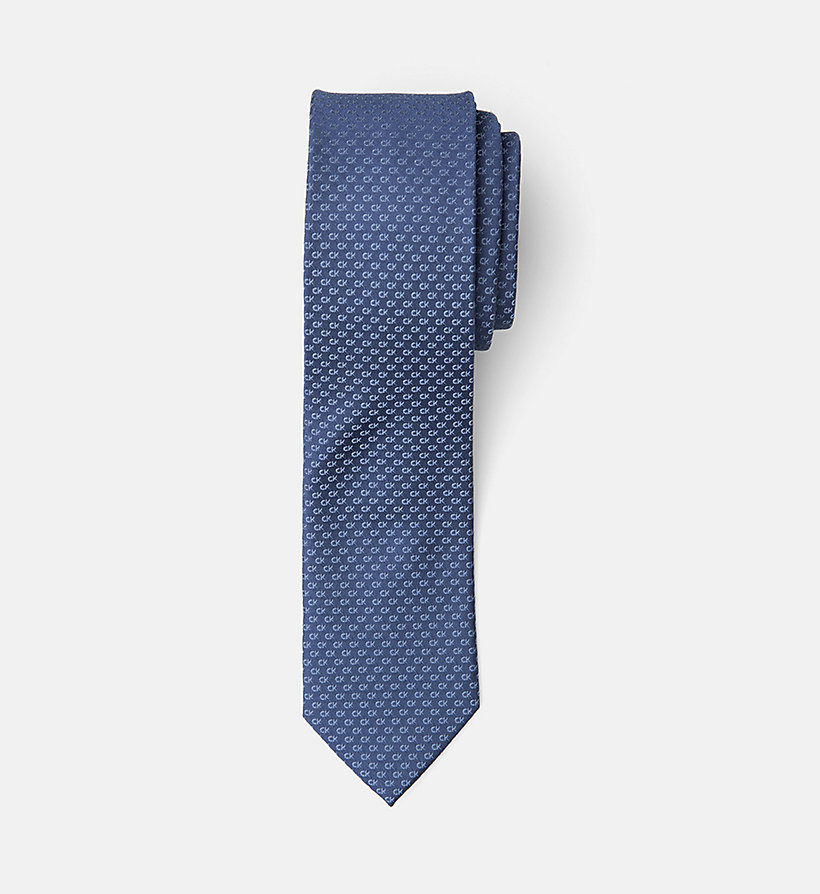 CALVINKLEIN Slim Silk Tie - BLACK - CALVIN KLEIN MEN - main image