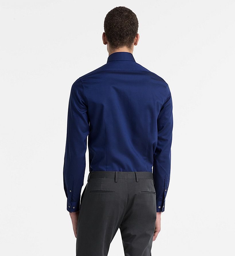 CALVINKLEIN Slim Dress Shirt - BLUE - CALVIN KLEIN MEN - detail image 2