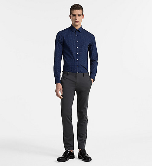 CALVINKLEIN Slim Dress Shirt - NAVY - CALVIN KLEIN CLOTHES - detail image 1