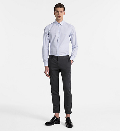 CALVINKLEIN Slim Dress Shirt - BLUE - CALVIN KLEIN CLOTHES - detail image 1