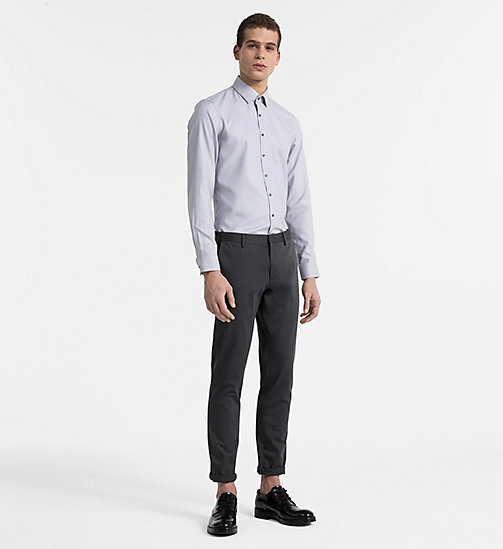 CALVINKLEIN Slim Dress Shirt - MERCURY - CALVIN KLEIN CLOTHES - detail image 1