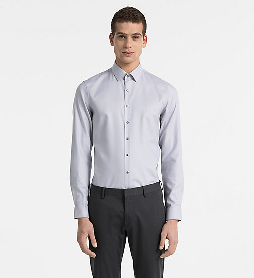 CALVINKLEIN Slim Dress Shirt - MERCURY - CALVIN KLEIN CLOTHES - main image