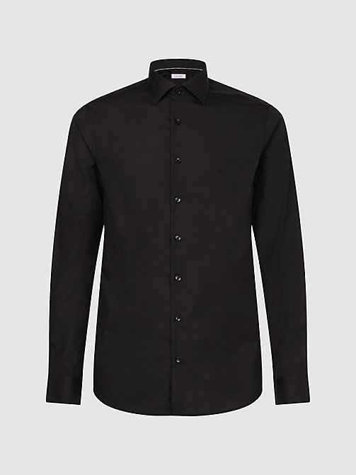 CALVINKLEIN Fitted Dress Shirt - BLACK -  SHIRTS - main image