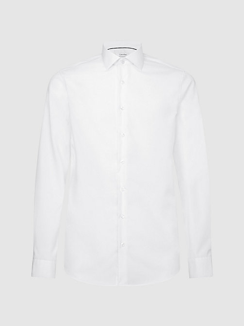 CALVINKLEIN Fitted Dress Shirt - WHITE - CALVIN KLEIN SHIRTS - main image