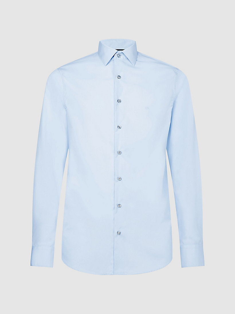 CALVINKLEIN Fitted Dress Shirt - WHITE - CALVIN KLEIN MEN - main image