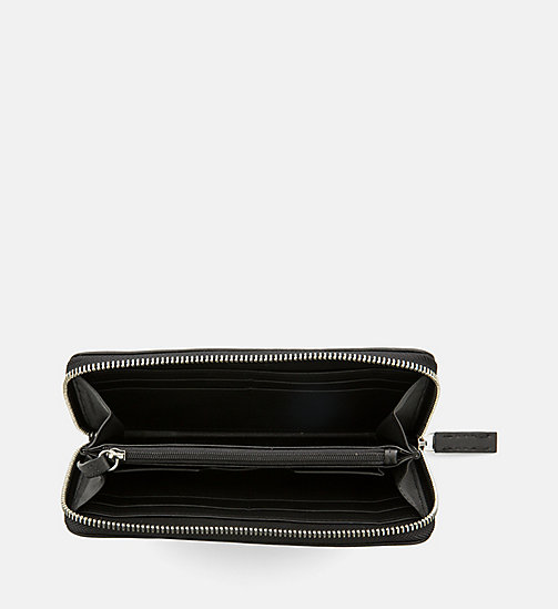 CALVINKLEIN Leather Zip-Around Wallet - CALVIN GRID - CALVIN KLEIN WALLETS & SMALL ACCESSORIES - detail image 1
