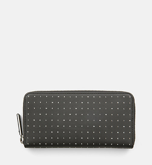 CALVINKLEIN Leather Zip-Around Wallet - CALVIN GRID - CALVIN KLEIN WALLETS & SMALL ACCESSORIES - main image