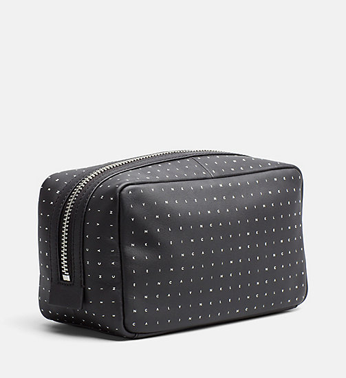 CALVINKLEIN Leather Washbag - CALVIN GRID - CALVIN KLEIN SMALL ACCESSORIES - detail image 1