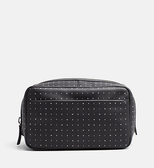 CALVINKLEIN Leather Washbag - CALVIN GRID - CALVIN KLEIN SMALL ACCESSORIES - main image