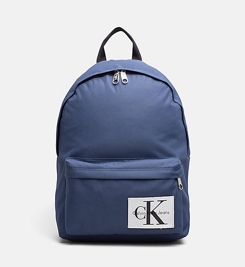 CALVIN KLEIN JEANS Medium Round Backpack - STEEL BLUE - CALVIN KLEIN JEANS TRUE COLOURS - main image