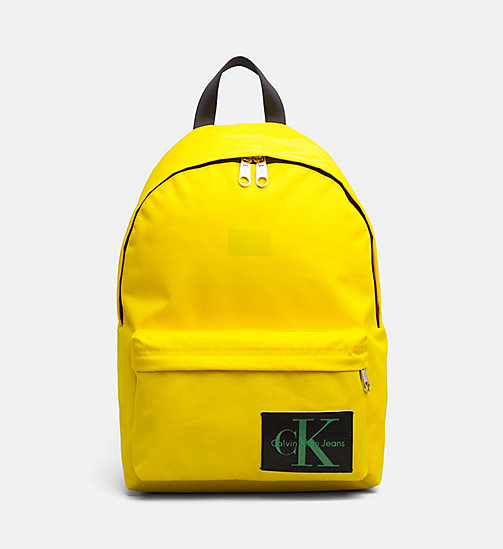 CALVIN KLEIN JEANS Medium Round Backpack - CANARY - CALVIN KLEIN JEANS BACKPACKS - main image