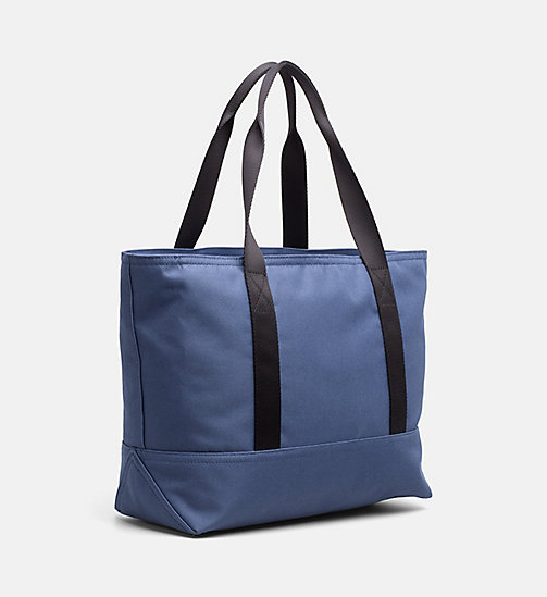 CALVIN KLEIN JEANS Medium Tote Bag - STEEL BLUE - CALVIN KLEIN JEANS SHOES & ACCESSORIES - detail image 1