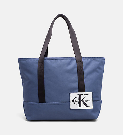 CALVIN KLEIN JEANS Medium Tote Bag - STEEL BLUE - CALVIN KLEIN JEANS SHOES & ACCESSORIES - main image