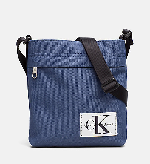 CALVIN KLEIN JEANS Flache Micro Crossover-Bag - STEEL BLUE -  NEW IN - main image