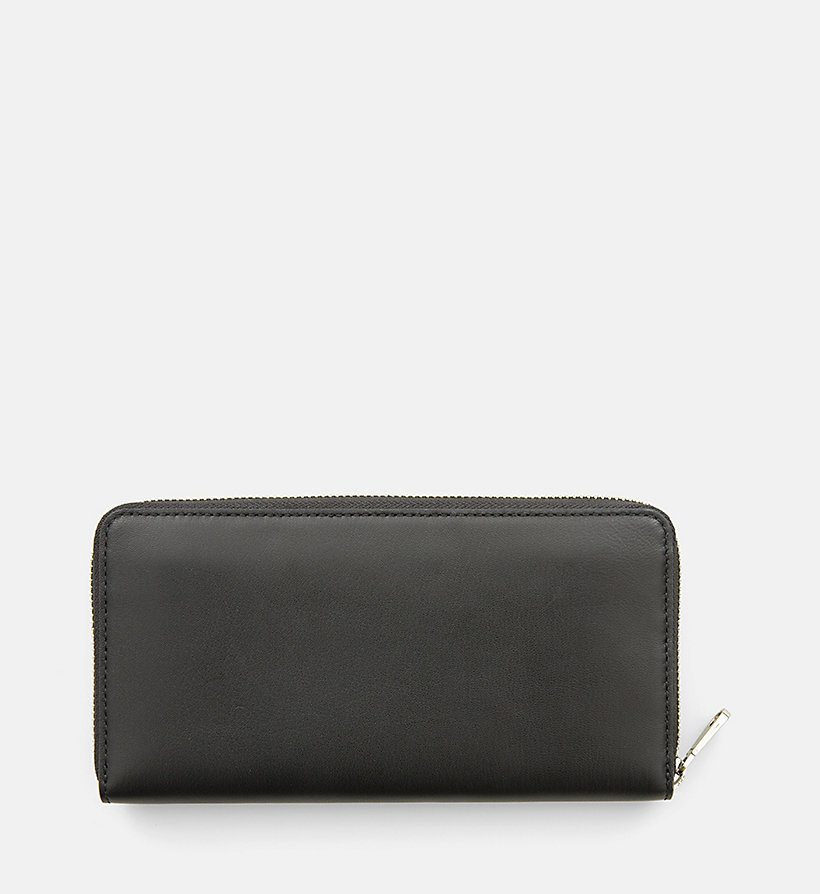 CALVIN KLEIN JEANS Large Leather Zip-Around Wallet - BLACK/BLACK - CALVIN KLEIN JEANS MEN - detail image 2