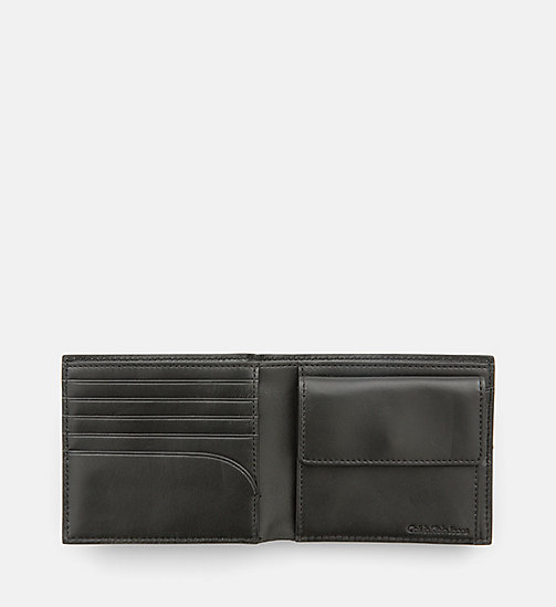 CALVIN KLEIN JEANS Leather Wallet - BLACK/RED - CALVIN KLEIN JEANS WALLETS & SMALL ACCESSORIES - detail image 1
