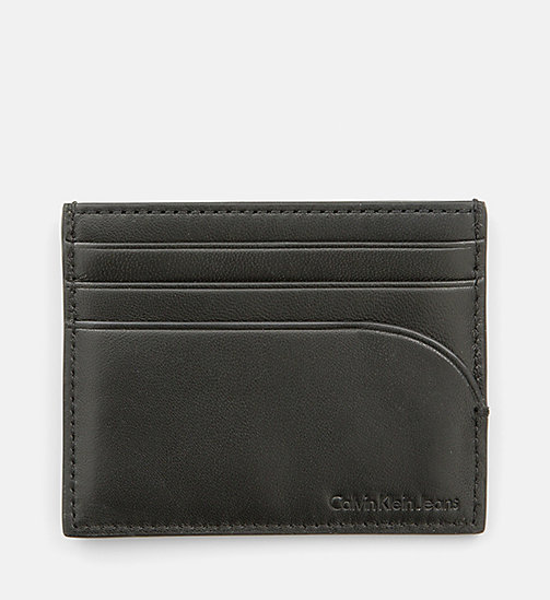 CALVIN KLEIN JEANS Leather Cardholder - BLACK RED - CALVIN KLEIN JEANS WALLETS - detail image 1