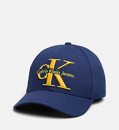 CALVIN KLEIN JEANS Baseball Cap - BLUE DEPTHS - CALVIN KLEIN JEANS ACCESSORIES - main image