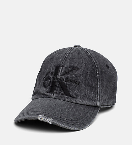 CALVIN KLEIN JEANS Denim Baseball Cap - BLACK DENIM WASH - CALVIN KLEIN JEANS HATS - main image