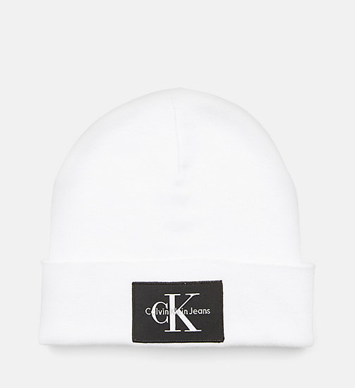 CALVIN KLEIN JEANS Beanie - BRIGHT WHITE - CALVIN KLEIN JEANS SHOES & ACCESSORIES - main image