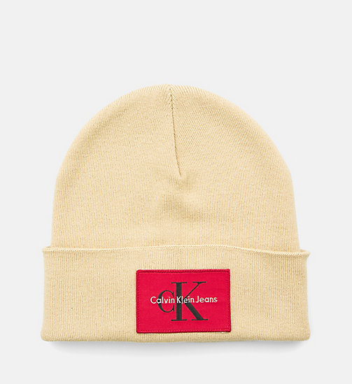 CALVIN KLEIN JEANS Beanie - SAFARI - CALVIN KLEIN JEANS SHOES & ACCESSORIES - main image