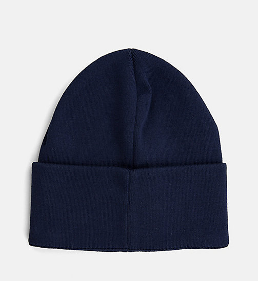CALVIN KLEIN JEANS Beanie - BLUE DEPTHS - CALVIN KLEIN JEANS SHOES & ACCESSORIES - detail image 1