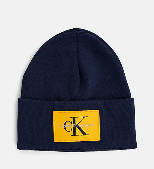 CALVIN KLEIN JEANS Beanie - BLUE DEPTHS - CALVIN KLEIN JEANS SHOES & ACCESSORIES - main image
