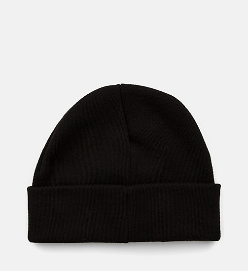 CALVIN KLEIN JEANS Short Beanie - BLACK - CALVIN KLEIN JEANS SHOES & ACCESSORIES - detail image 1