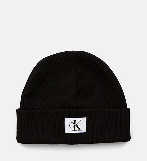 CALVIN KLEIN JEANS Short Beanie - BLACK - CALVIN KLEIN JEANS SHOES & ACCESSORIES - main image