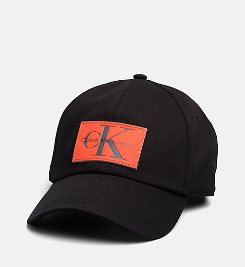 CALVIN KLEIN JEANS Leather Patch Baseball Cap - BLACK - CALVIN KLEIN JEANS ACCESSORIES - main image