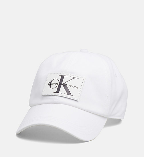 CALVIN KLEIN JEANS Leather Patch Baseball Cap - WHITE - CALVIN KLEIN JEANS LOGO SHOP - main image