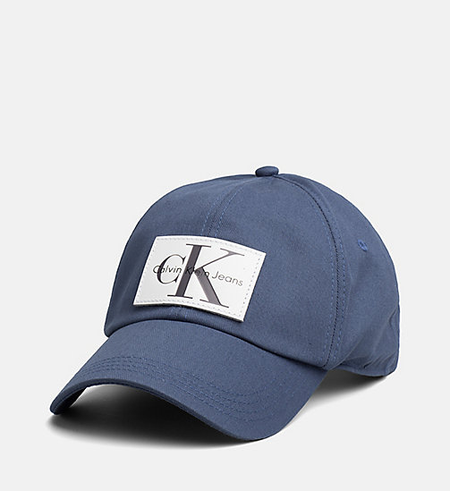 CALVIN KLEIN JEANS Leather Patch Baseball Cap - STEEL BLUE - CALVIN KLEIN JEANS HATS - main image