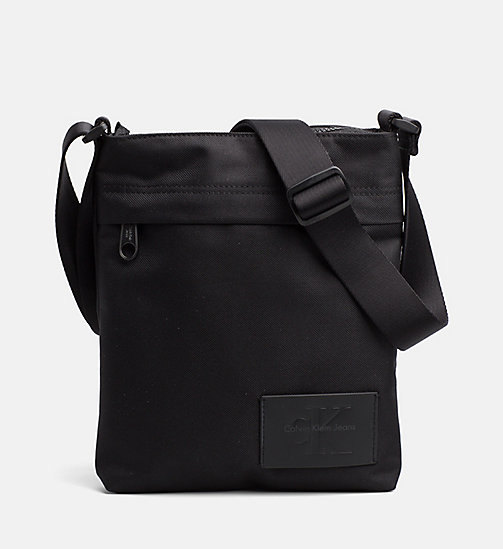 CALVIN KLEIN JEANS Flat Crossover - BLACK/BLACK - CALVIN KLEIN JEANS BAGS & ACCESSORIES - main image