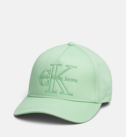 CALVIN KLEIN JEANS Cotton Twill Baseball Cap - GREEN ASH - CALVIN KLEIN JEANS SHOES & ACCESSORIES - main image