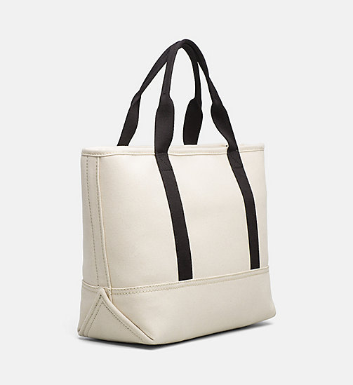 CALVIN KLEIN JEANS Medium canvas tote bag - LIGHT CANVAS - CALVIN KLEIN JEANS TOTE TASSEN - detail image 1