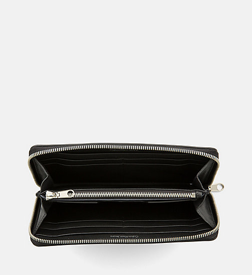 CALVIN KLEIN JEANS Leather Zip-Around Wallet - BLACK - CALVIN KLEIN JEANS WALLETS - detail image 1