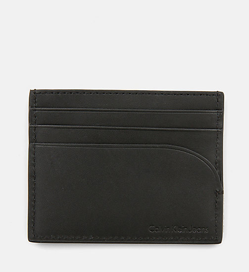 CALVIN KLEIN JEANS Leather Cardholder - BLACK -  WALLETS & SMALL ACCESSORIES - detail image 1