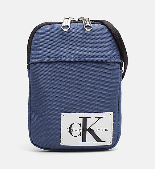 CALVIN KLEIN JEANS Phone Crossover - STEEL BLUE - CALVIN KLEIN JEANS WALLETS & SMALL ACCESSORIES - main image