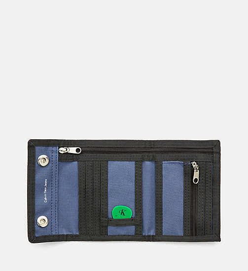 CALVIN KLEIN JEANS Canvas Wallet - STEEL BLUE - CALVIN KLEIN JEANS WALLETS & SMALL ACCESSORIES - detail image 1