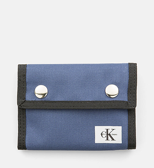 CALVIN KLEIN JEANS Canvas Wallet - STEEL BLUE - CALVIN KLEIN JEANS WALLETS & SMALL ACCESSORIES - main image