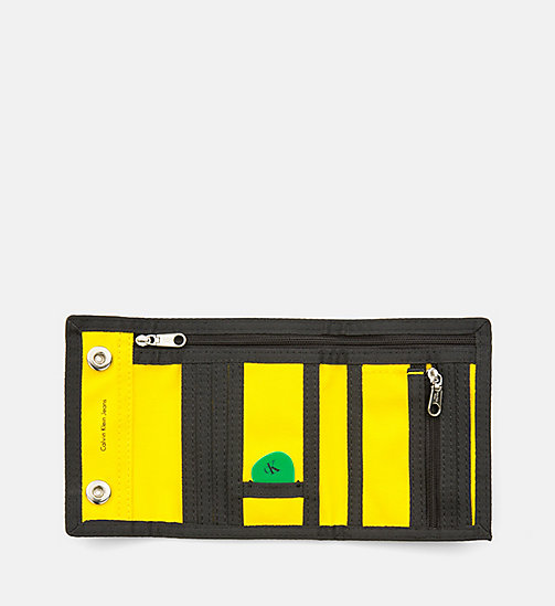 CALVIN KLEIN JEANS Canvas Wallet - CANARY - CALVIN KLEIN JEANS WALLETS & SMALL ACCESSORIES - detail image 1