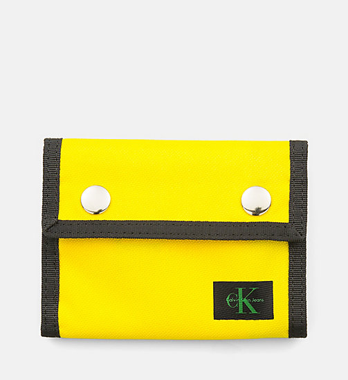 CALVIN KLEIN JEANS Canvas Wallet - CANARY - CALVIN KLEIN JEANS WALLETS & SMALL ACCESSORIES - main image