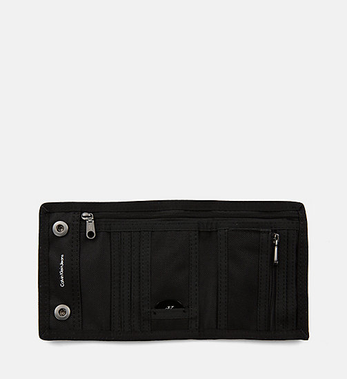 CALVIN KLEIN JEANS Canvas Wallet - BLACK/BLACK - CALVIN KLEIN JEANS SHOES & ACCESSORIES - detail image 1