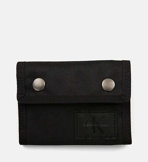 CALVIN KLEIN JEANS Canvas Wallet - BLACK/BLACK - CALVIN KLEIN JEANS SHOES & ACCESSORIES - main image