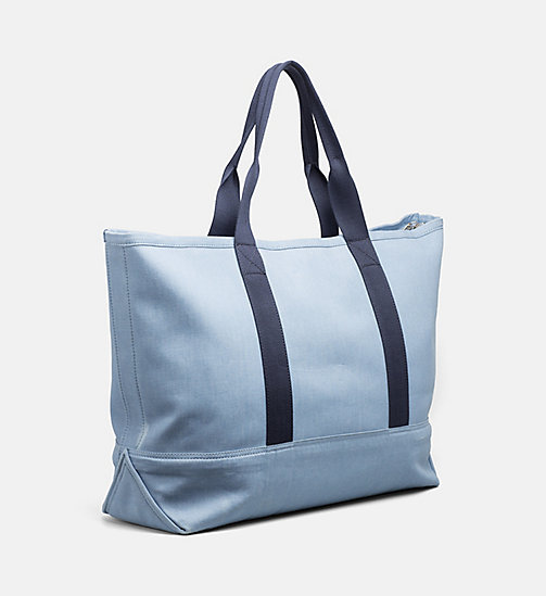 CALVIN KLEIN JEANS Extra Large Canvas Tote Bag - LIGHT NAVY - CALVIN KLEIN JEANS SWIMWEAR - detail image 1