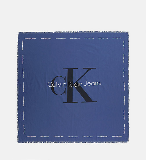CALVIN KLEIN JEANS Logo Scarf - BLUE DEPTHS - CALVIN KLEIN JEANS SHOES & ACCESSORIES - main image