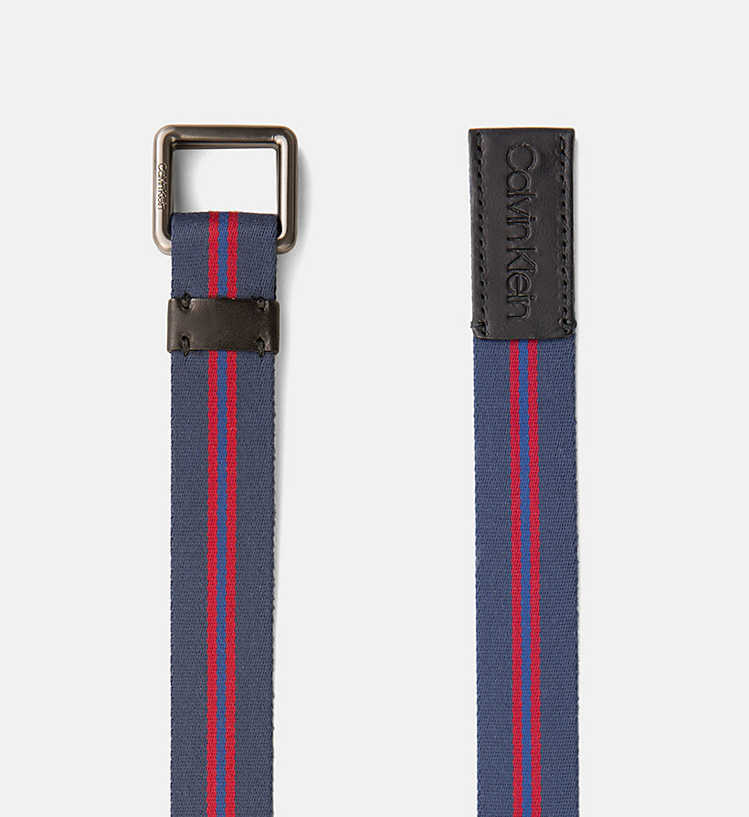 CALVIN KLEIN Webbing Belt - DARK RED - CALVIN KLEIN WOMEN - detail image 1