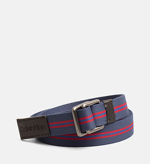 CALVINKLEIN Webbing Belt - NAVY - CALVIN KLEIN SHOES & ACCESSORIES - main image